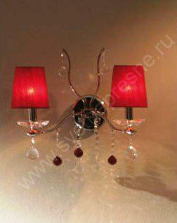 C-390/2 chrome red/red Бра (Copen Lamp)